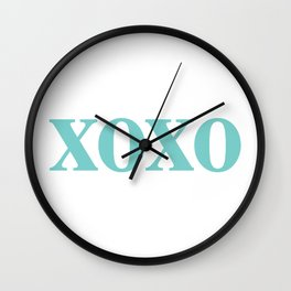 Aqua XOXO Wall Clock
