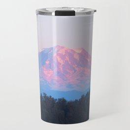 Mount Rainer Alpenglow Travel Mug