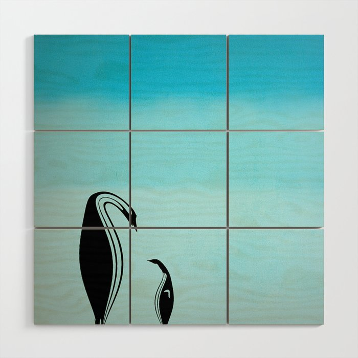 Wall Hanging Lesson Plan: Penguin Lessons Wood Wall Art By Curvilinearartbarryking