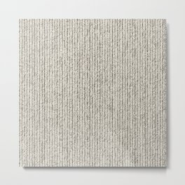 Tie Dye Stripes Charcoal Metal Print