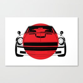 240Z - Japanese Flag Canvas Print