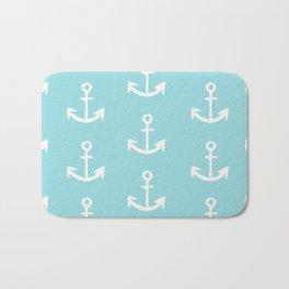 Anchor - mint blue Bath Mat