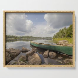 Perfect Boundary Waters Day Serving Tray