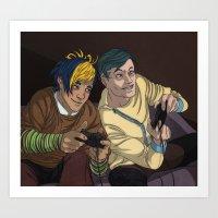 video games Art Prints featuring Video Games by Viktor Macháček