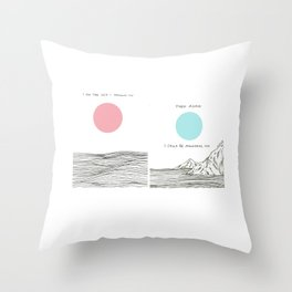 I am The Sea I Drown in Throw Pillow