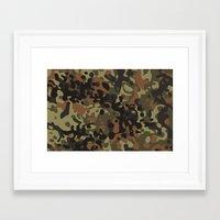 david fleck Framed Art Prints featuring Fleck Tarn Camoflauge  by Derek Boman