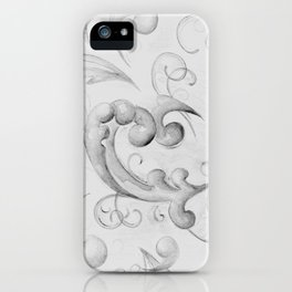 Grisaille Scrolls iPhone Case