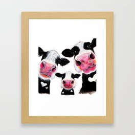 CoW PRiNT ANiMaL PRiNT ' THe NoSeY FaMiLY ' BY SHiRLeY MacARTHuR Framed Art Print