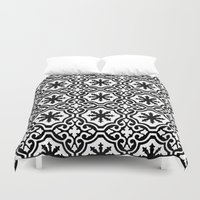 casablanca Duvet Covers featuring Arabic Style Pattern  by Barbo's Art