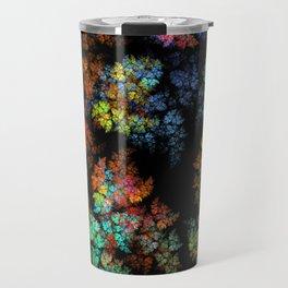 Leaves - fractal art Travel Mug