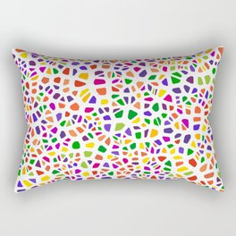Stained glass colorful voronoi with fillet, vector abstract. Irregular cells background pattern. 2D Rectangular Pillow