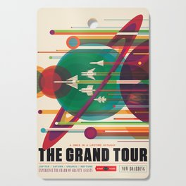 NASA Retro Space Travel Poster The Grand Tour Cutting Board
