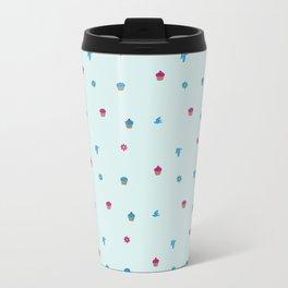 Cupcake, Flower, Bird Pattern Travel Mug