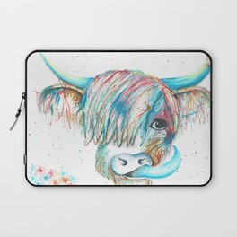 Highland Cattle full of colour Laptop Sleeve