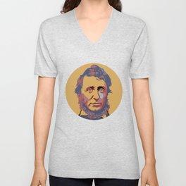Henry David Thoreau Unisex V-Neck