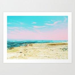 The Beach #society6 #decor #buyart Art Print