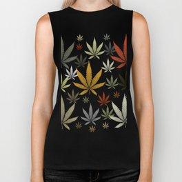 Marijuana Cannabis Weed Pot Leaves Biker Tank