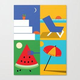 Mediterranean Summer Canvas Print