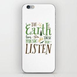 The Earth's Music iPhone Skin