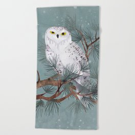Snowy Beach Towel