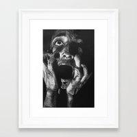 scream Framed Art Prints featuring Scream by Twisty Artist