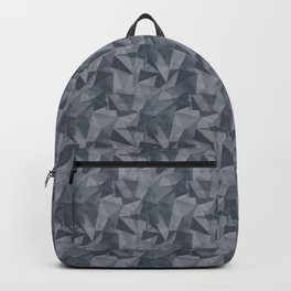 Abstract Geometrical Triangle Patterns 2 Benjamin Moore 2019 Trending Color Hale Navy Blue Gray HC-1 Backpack