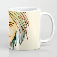rasta Mugs featuring Rasta Girl by IOSQ