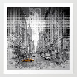 Graphic Art NEW YORK CITY 5th Avenue Art Print