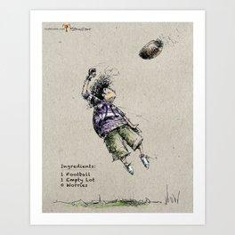 Football Kid Art Print