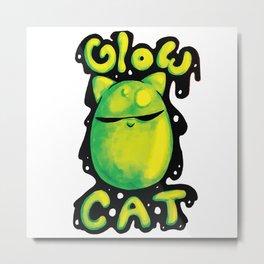 Glow Cat Metal Print
