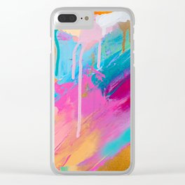 Abstract acrylic contemporary painting Clear iPhone Case