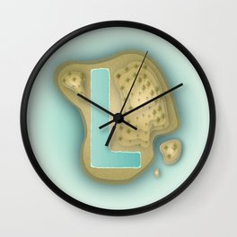 L is for Lagoon. Wall Clock