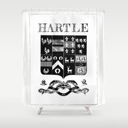 Hartle Coat of Arms - Embellishments Shower Curtain