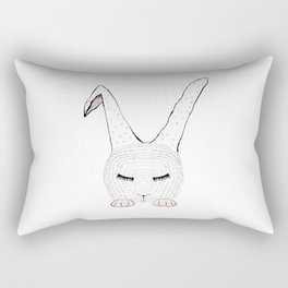 Sleeping Pink Bunnie Rectangular Pillow