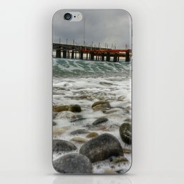Wave by side iPhone Skin