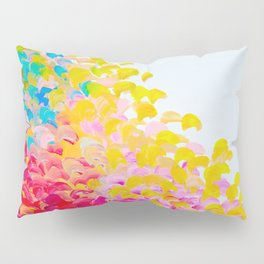 CREATION IN COLOR - Vibrant Bright Bold Colorful Abstract Painting Cheerful Fun Ocean Autumn Waves Pillow Sham