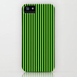 Striped black and light green background iPhone Case