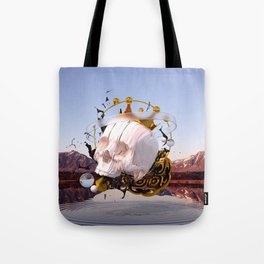 3D ABSTRACT - GOLD - GLASS - OIL - PORCELAIN Tote Bag
