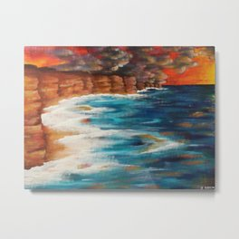Moroccan Sea Spray Metal Print