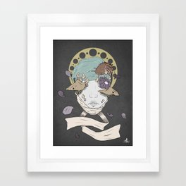 Our gods are made on earth I Framed Art Print