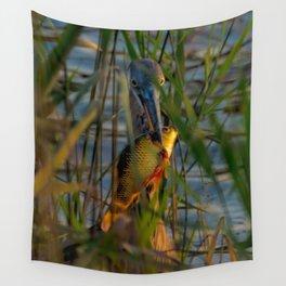 BLUE HERON'S FRIDAY SUNDOWN FISH FEAST Wall Tapestry