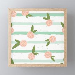Tiny Roses Framed Mini Art Print