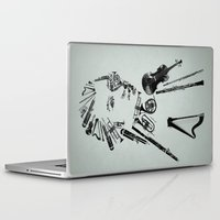 mozart Laptop & iPad Skins featuring Wolfgang Amadeus Mozart by bananabread