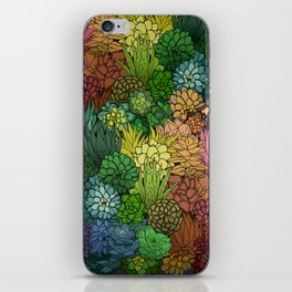 Succulent Garden Rainbow iPhone Skin