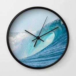 Crashing barrel wave in the Pacific Ocean Wall Clock