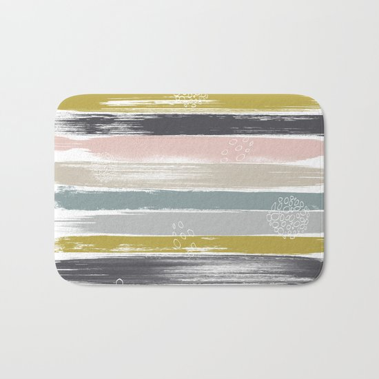 Fragments, Brushstrokes and Circles Bath Mat