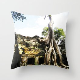 The Tree Temple Throw Pillow
