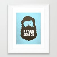 tote Framed Art Prints featuring Beard Season by Chase Kunz