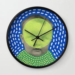 Fluo Yoga Wall Clock