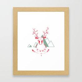 Christmas Geo Deer 5 Framed Art Print